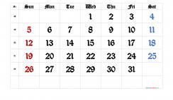 Free Printable 2021 December  Calendar