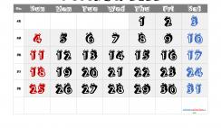 Free Printable 2022 December Calendar