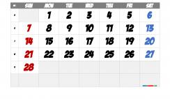Printable February 2021 Calendar with Week Numbers
