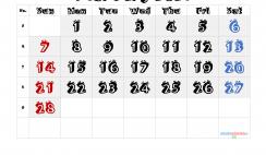 Printable February 2021 Calendar
