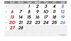 Free Printable February 2022 Calendar with Week Numbers