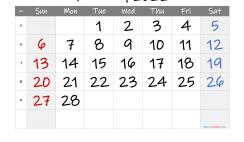 Free Printable 2022 February Calendar