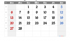 Printable Calendar 2022 February