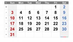 Free January 2021 Calendar with Week Numbers