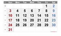 Printable Calendar 2021 January