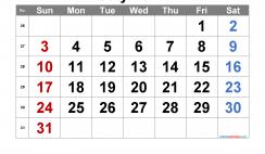 Printable July 2022 Calendar