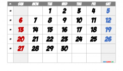 Free Printable 2021 June  Calendar