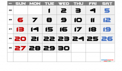 Free June 2021 Calendar with Week Numbers