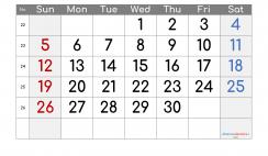 Printable Calendar 2022 June