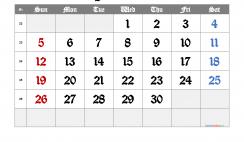 Printable June 2022 Calendar