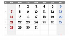 Printable Calendar 2021 March