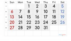 Printable March 2022 Calendar with Week Numbers