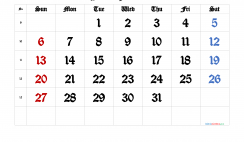 Free Printable 2022 March Calendar