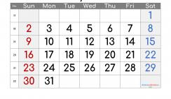 Printable Calendar 2021 May
