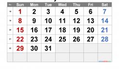Free Printable May 2022 Calendar with Week Numbers
