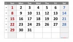 Free Printable 2022 May Calendar