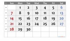 Free Printable 2021 November  Calendar