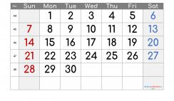 Printable Calendar 2021 November