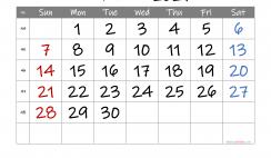Free Printable Calendar 2021 November