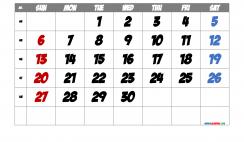 Free Printable Calendar 2022 November