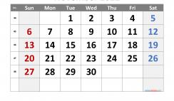 Free Printable 2022 November Calendar
