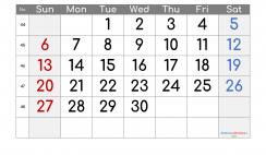 Printable Calendar 2022 November