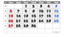 Printable November 2022 Calendar
