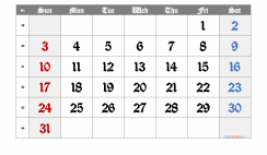 Printable Calendar 2021 October