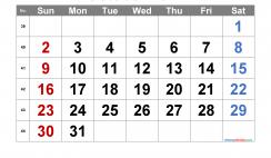 Printable October 2022 Calendar with Week Numbers