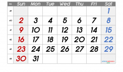 Printable October 2022 Calendar