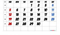 Free September 2021 Calendar with Week Numbers