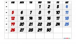 Free Printable September 2021 Calendar with Week Numbers