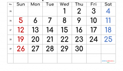 Printable September 2021 Calendar