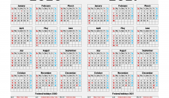 Printable 2020 and 2021 Calendar with Holidays