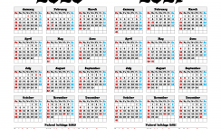 2020 and 2021 Calendar Printable with Holidays