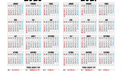 2020 and 2021 Printable Calendar with Holidays