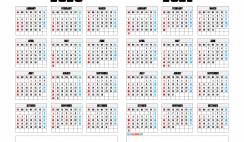 Printable 2020 and 2021 Calendar Template