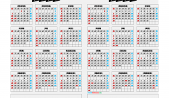2020 and 2021 Calendar Printable Lanscape