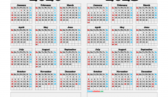 Free Printable Calendar 2020 and 2021