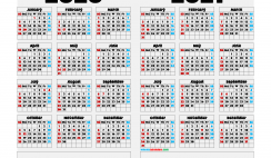 2020 and 2021 Printable Calendar Landscape