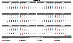 Free Printable 2021 Calendar with Holidays