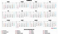 Printable Calendar 2021 pdf