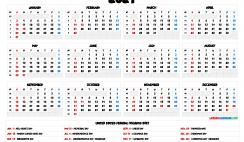 2021 Calendar Printable PDF