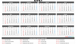 Free Printable Yearly Calendar 2021