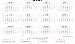 Free 2021 Printable Calendar with Week Numbers