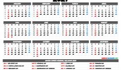 Printable 2021 Calendar with Holidays