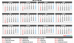 2021 Calendar with Holidays Printable