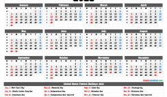 2021 Calendar with Week Numbers