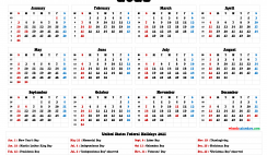 Free Printable 2021 Calendar with Holidays US
