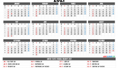 Printable 2021 Calendar with Holidays